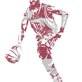 JAMES HARDEN HOUSTON ROCKETS PIXEL ART 20 - Joe Hamilton
