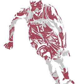 JAMES HARDEN HOUSTON ROCKETS PIXEL ART 21 - Joe Hamilton