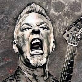 Scott Wallace - James Hetfield Illustration
