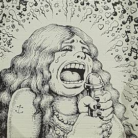 Janis Joplin Cartoon by Rob Hans