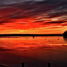 January Sunrise Onset Pier by Bruce Gannon