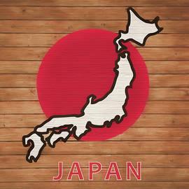 Dan Sproul - Japan Rustic Map On Wood