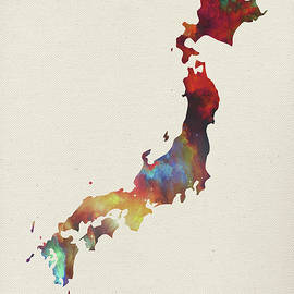 Design Turnpike - Japan Watercolor Map