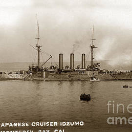 Japanese cruiser Izumo In Monterey Bay December 1913 by California Views Archives Mr Pat Hathaway Archives