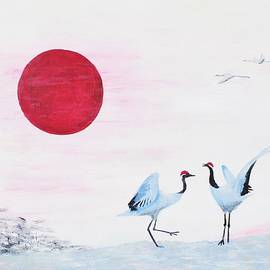 Nigel Radcliffe - Japanese sun with cranes