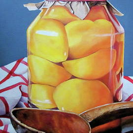 Jar of Peaches-Canning Day by Lillian Bell