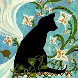 Jasmine on my mind - Black Cat in Window