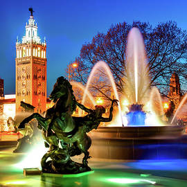 J.C. Nichols Fountain Statues - The Kansas City Plaza by Gregory Ballos