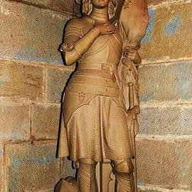 Jeanne D' Arc Statue In The Basilica St. Nazaire, Carcassonne, Occitanie by Poet's Eye