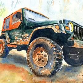 Jeep Wrangler Watercolor by Carlin Blahnik CarlinArtWatercolor