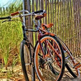 Geraldine Scull - Jersey shore bike fence scene