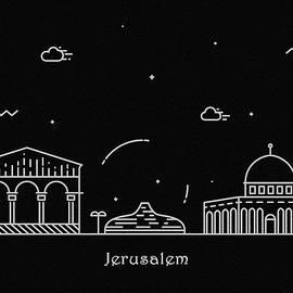 Inspirowl Design - Jerusalem Skyline Travel Poster