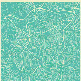 JERUSALEM STREET MAP 2 - Jazzberry Blue