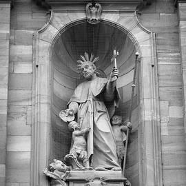 Teresa Mucha - Jesuit Church Christ Statue 2 B W