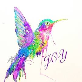 Jeweled Hummingbird Joy  by Ellen Levinson