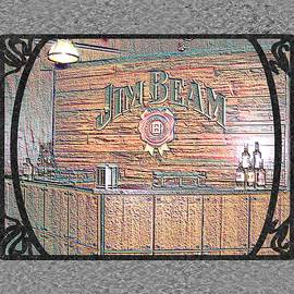Marian Bell - Jim Beam Tasting Area in Colored Chalk With Border