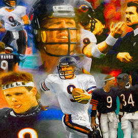 Jim McMahon Collage by John Farr