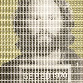 Jim Morrison Mug Shot - Gold by Gary Hogben