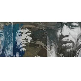 Jimi Hendrix Triptych - Paul Lovering