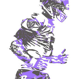 JOE FLACCO BALTIMORE RAVENS PIXEL ART 8 - Joe Hamilton