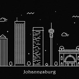 Inspirowl Design - Johannesburg Skyline Travel Poster