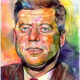John F. Kennedy watercolor - Suzann
