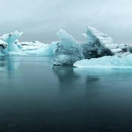 Jokulsarlon Glacier Lagoon Panorama by Brad Scott
