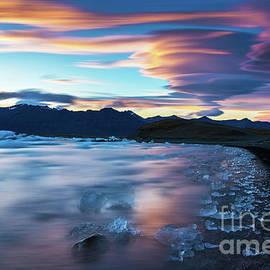 Jokulsarlon Iceland Glacial Ice Lenticular Sunset - Mike Reid
