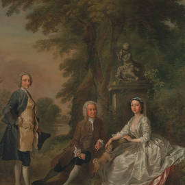 Jonathan Tyers, with His Daughter Elizabeth, and Her Husband John Wood - Francis Hayman