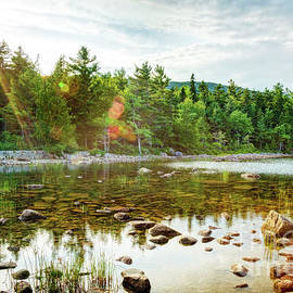 Jordan Pond Rays, Acadia National Park, Maine by Kay Brewer