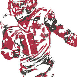 Julio Jones ATLANTA FALCONS PIXEL ART 10 - Joe Hamilton