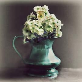 Flowers in Brass Pot by Slawek Aniol