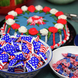 July Fourth Independence Day Cake And Candy by James Brunker