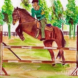 Jumping Horse by Bobby Dar