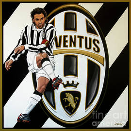 Juventus FC Turin painting by Paul Meijering