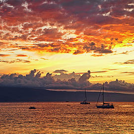 Ka'anapali Sunset Fire by Marcia Colelli
