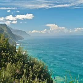 Kalalau Trail Overlook by Michael Peychich
