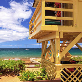 Kamaole Beach Lifeguard Tower by James Eddy