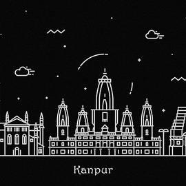 Inspirowl Design - Kanpur Skyline Travel Poster