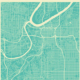 KANSAS STREET MAP 2 - Jazzberry Blue