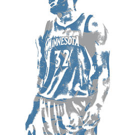 Karl Anthony Towns MINNESOTA TIMBERWOLVES PIXEL ART 6 - Joe Hamilton