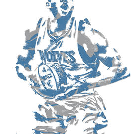 Karl Anthony Towns MINNESOTA TIMBERWOLVES PIXEL ART 9 - Joe Hamilton