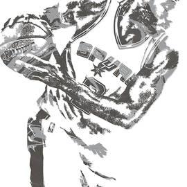 Kawhi Leonard SAN ANTONIO SPURS PIXEL ART 17 - Joe Hamilton