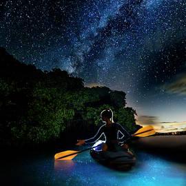 Kayak in the Biobay under the Milky Way by Karl Alexander