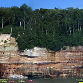 Thomas Woolworth - Kayaking Pictured Rocks National Lakeshore UP Michigan Panorama 03