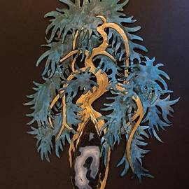 Kengai Bonsai with Blue Agate by Vanessa Williams
