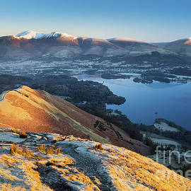 Keswick and Derwent Water from Catbells by Justin Foulkes