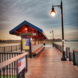 Keyport Pier At Sunset by Gary Slawsky