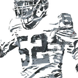 Khalil Mack OAKLAND RAIDERS PIXEL ART 4 - Joe Hamilton