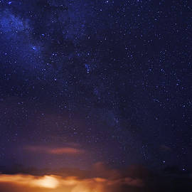 Kilauea and Milky Way by Randall Richards